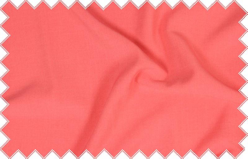 Korálová kalhotovka, oblekovka s elastanem, š.140 cm