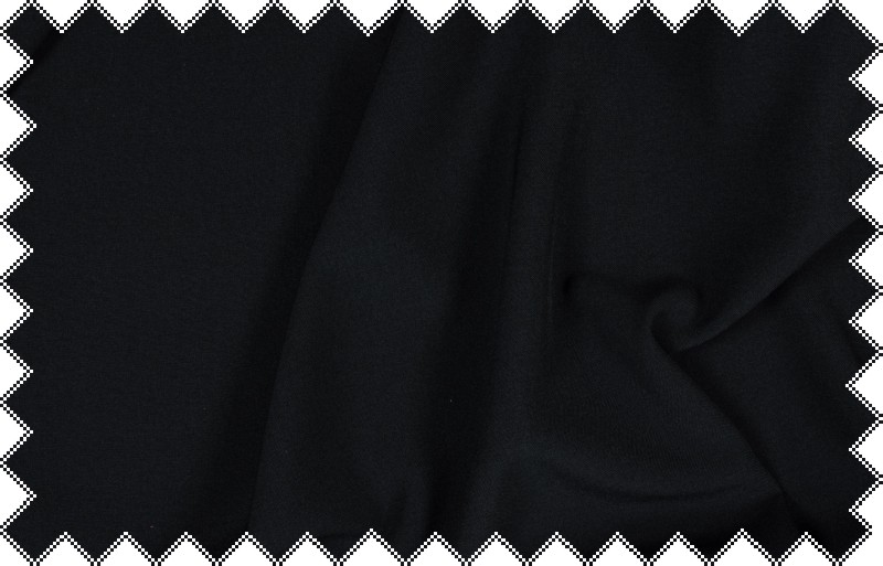 Tmavě modrá kalhotovka, oblekovka s elastanem, š.140 cm