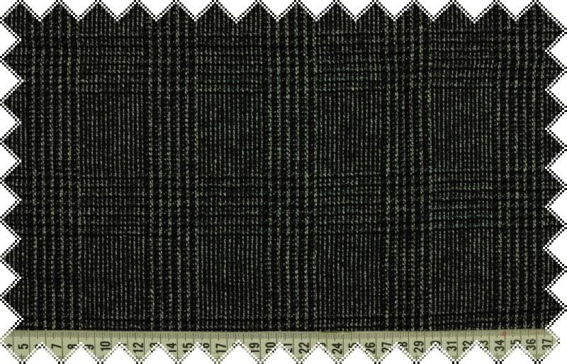 Šedo-černé vlněné káro