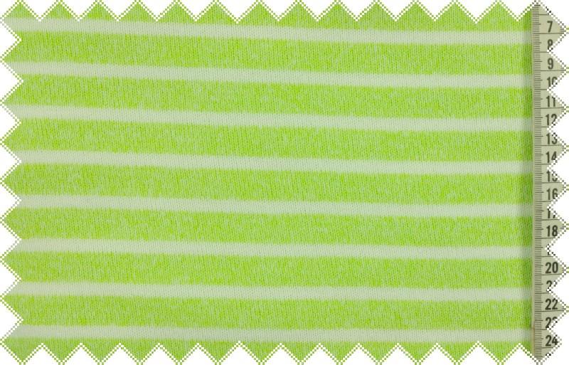 Světle zeleno-bílá svetrovina