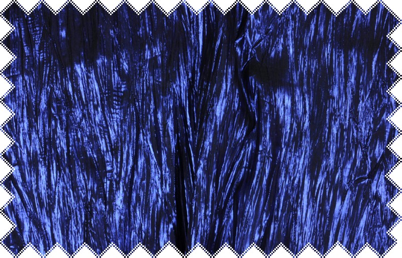 Modrá krešovaná tkanina s vysokým leskem