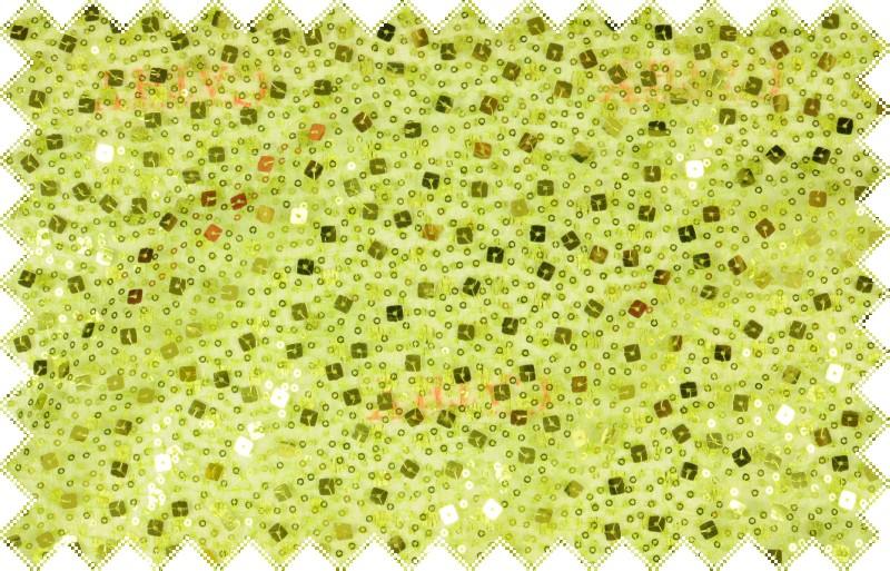 Světle zelený pružný tyl pošitý zelenými flitry