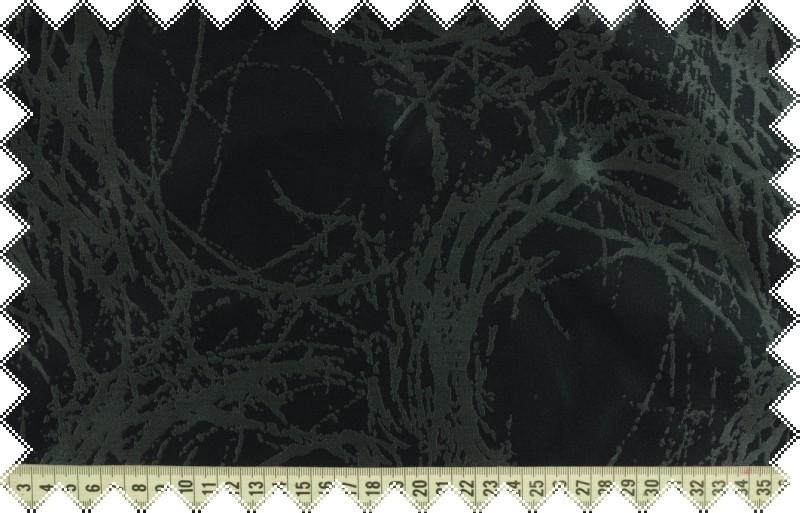 Tmavě modrý žakár se šedým vytkávaným vzorem