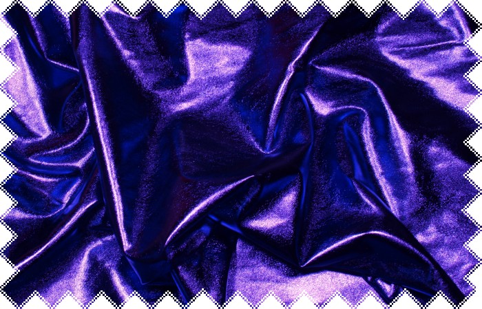 Fialový lesklý jemný elastický úplet- lakovaný