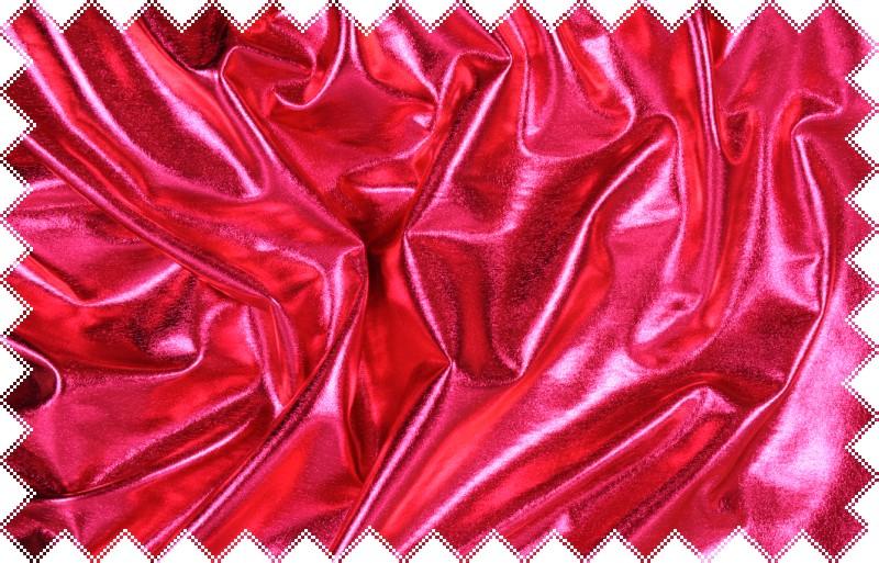 Sytě růžový lesklý jemný elastický úplet - lakovka