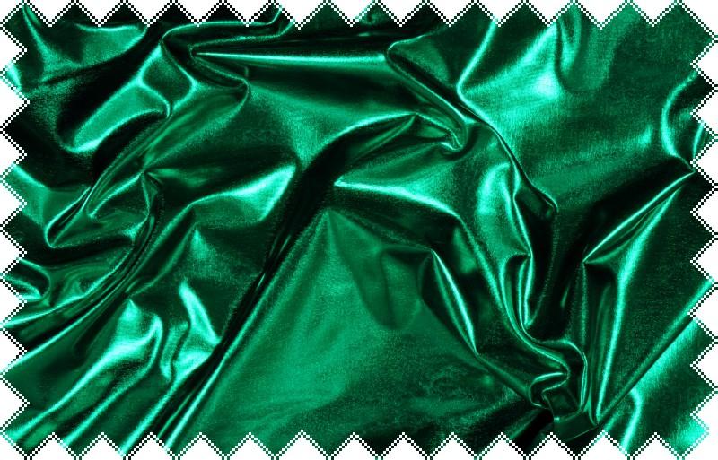 Tmavě zelený lesklý jemný elastický úplet - lakovka