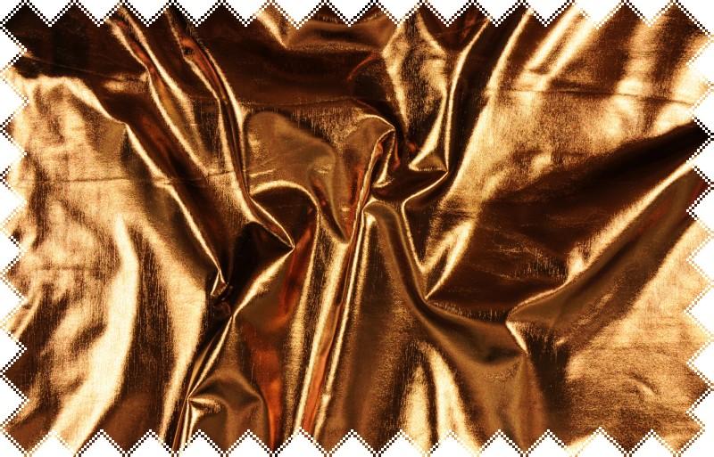 Bronzový lesklý jemný elastický úplet - lakovka