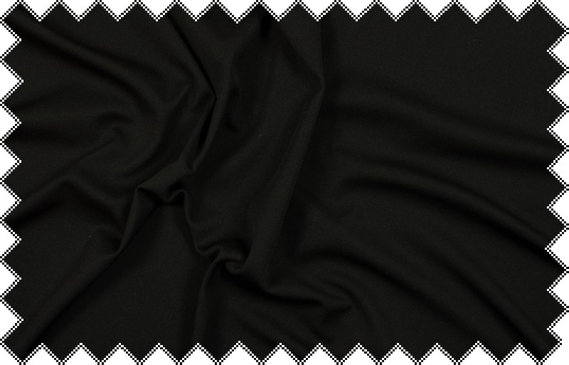 Černý tričkový elastický úplet, š.175 cm