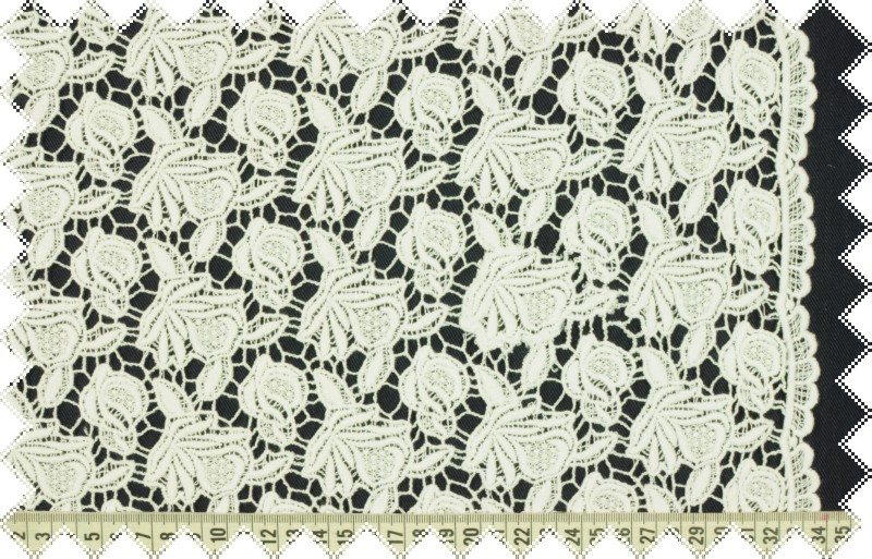 Čistě bílá exkluzivní španělská krajka, š.125 cm