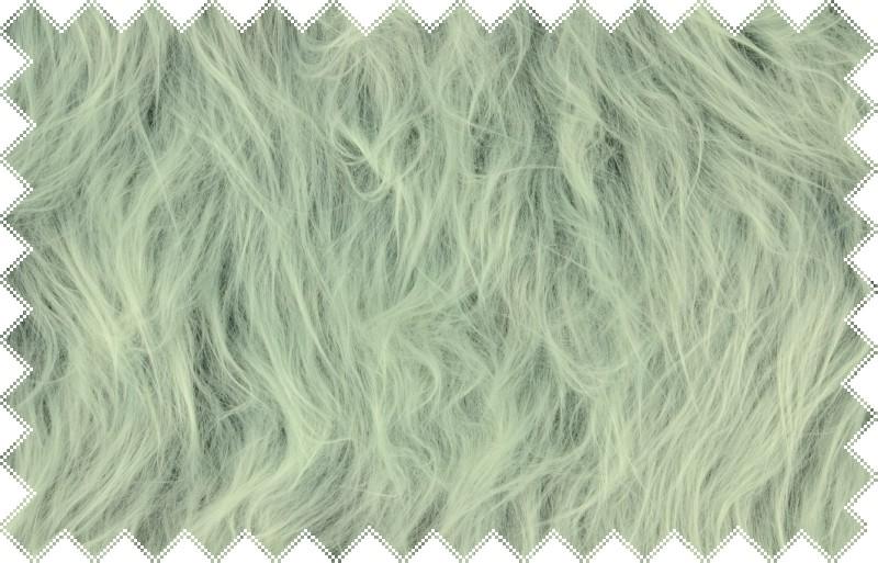 Světle šedá exklusivní italská kožešina s tmavší podsadou a vlasem dlouhým 10 cm š.160 cm